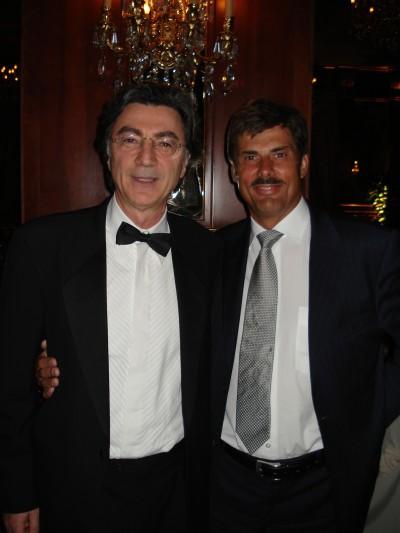 The president of the Italian Society of Hair Restoration, Vincenzo Gambino, and dr Jerzy Kolasiński.