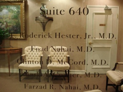 Luxury interiors of PACES Plastic Surgery.