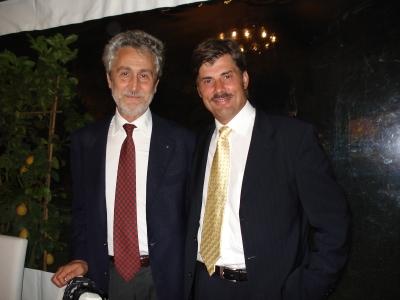 Profesor Michele Roberto and dr Jerzy Kolasiński