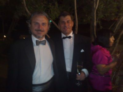 Guillermo Blugerman, MD, Argentina, and Jerzy Kolasiński, MD, during the gala banguet of the American Academy's 25th Anniversary Scientific Meeting