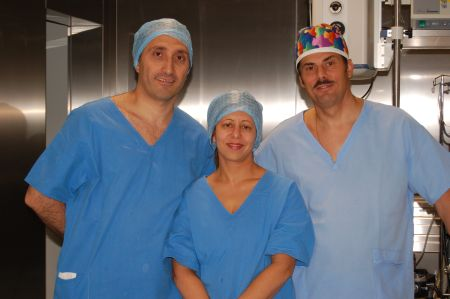 starting from the left side: Bessam K. Farjo M.D., Niloferm P. Farjo and Jerzy Kolasinski M.D.
