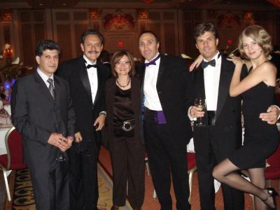 Gala Dinner in Las Vegas, starting from the left: Dr.  Samir Ibrahim, Dr. David Perez-Meza with his wife, Dr. Bessam Farjo and Dr. Jerzy Kolasiński with his daughter Weronika.