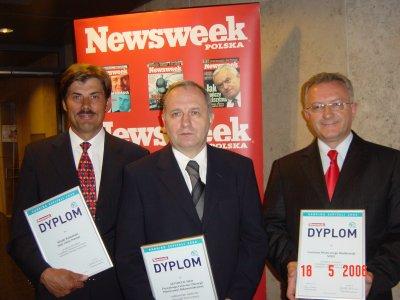 The leaders from left: dr Jerzy Kolasiński (III place), dr Andrzej Dmytrzak (I place) and dr Wiesław Bieńskowski (II place).