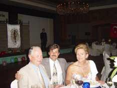 Jerzy Kolasinski, M.D., accompanied by Gaston Maillard, M.D., and his spouse.