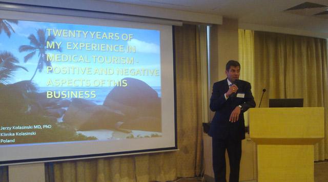 Dr Jerzy Kolasinski during his presentation in Istanbul