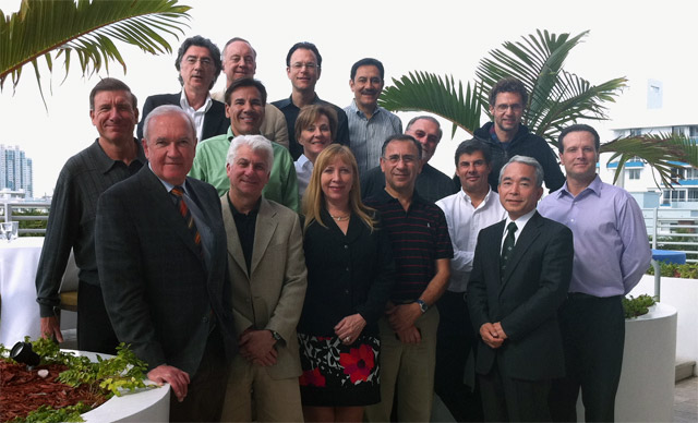 ISHRS Board during the meeting in Miami, the fourth from the left Dr Jerzy Kolasinski