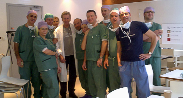 The Master Course participants in Stockholm – in the middle Dr Per Heden, the second from the right Dr Jerzy Kolasinski